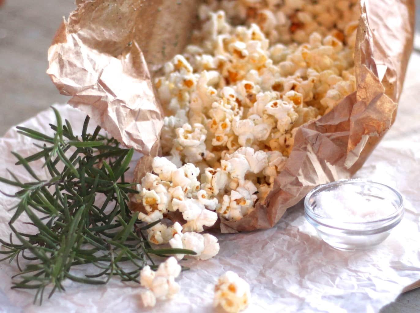 Popped Rosemary Popcorn