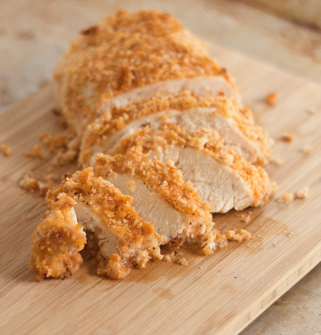 Super easy oven baked chicken breast recipe that is crispy, crunchy, and flavorful without the frying