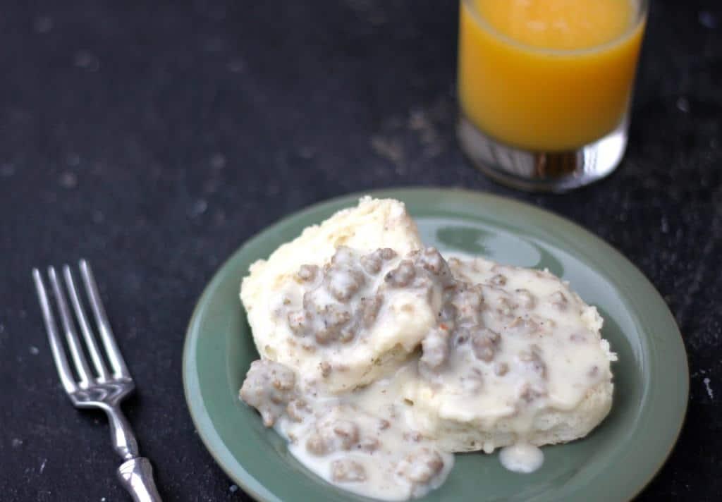 Sausage Gravy and Biscuit Breakfast