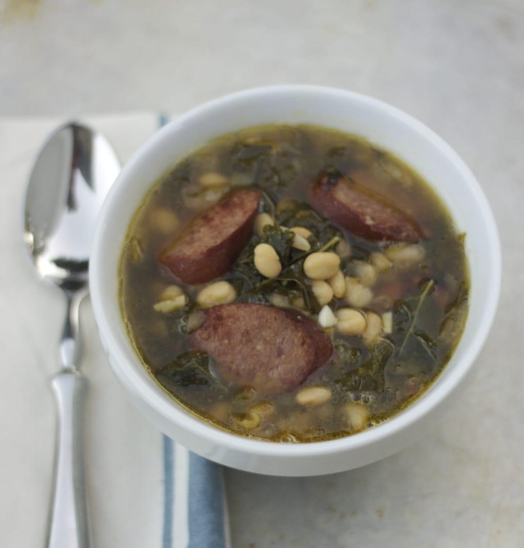 Kale, Sausage, White Bean Soup