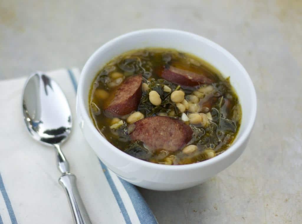 kale, white bean, sausage soup 2