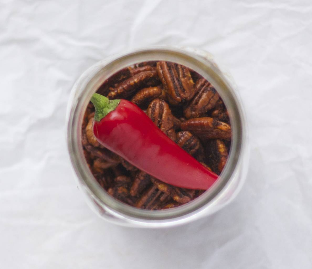 Sweet and Smoky Chili Pecans