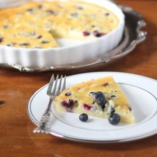 Blueberry Almond Clafoutis