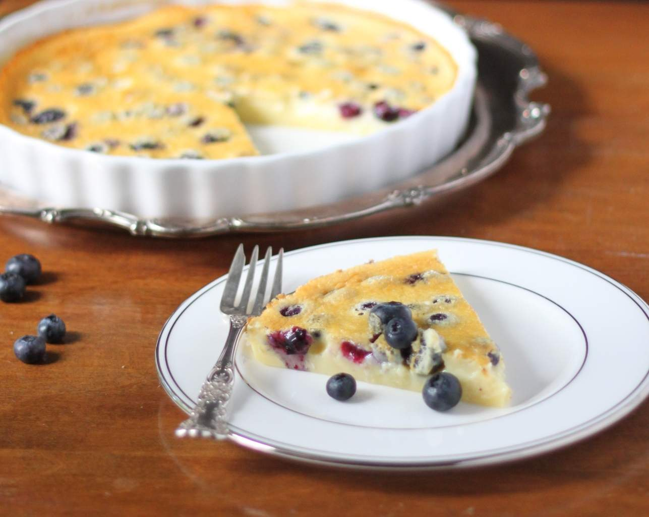 Blueberry Almond Clafoutis