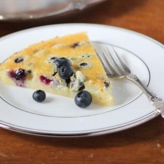 Almond Blueberry Clafoutis Slice