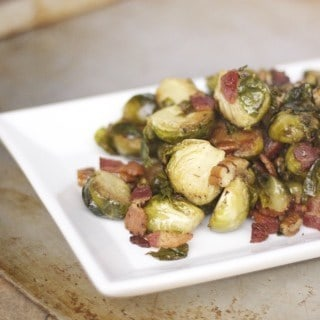 Roasted Bacon Brussels Sprouts