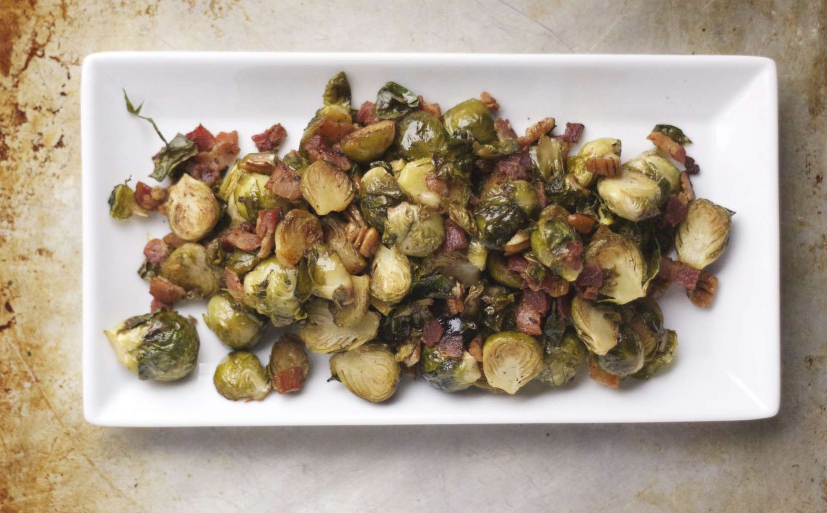 Brussel Sprouts with Bacon and Walnuts