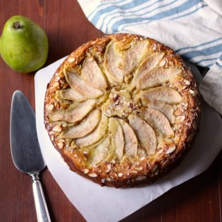 Gluten Free Almond Flour Cake with Pears