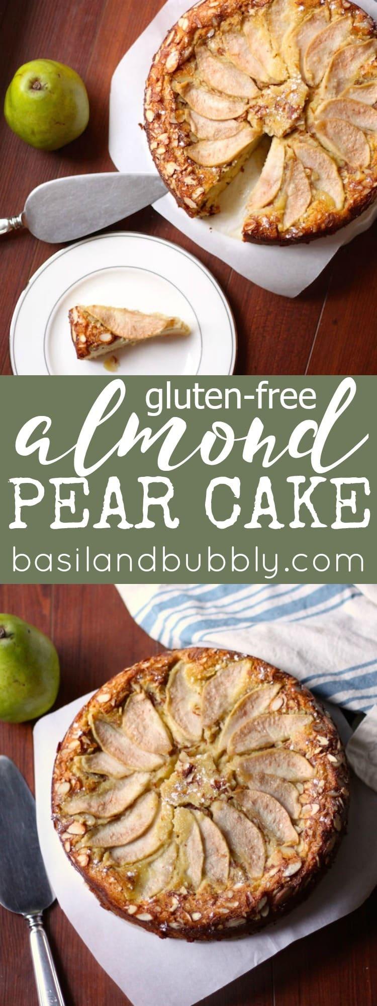 Gluten Free Almond Pear Cake
