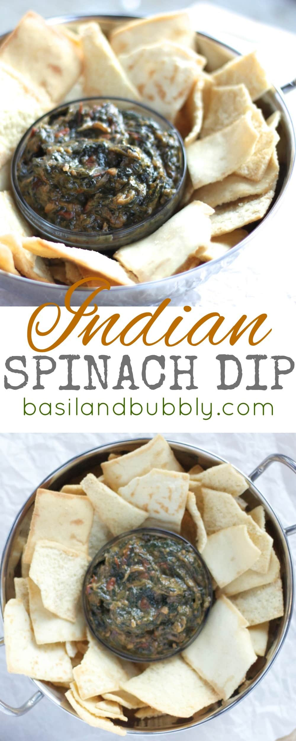 Rich, creamy, Indian inspired curried spinach dip to spice up a party appetizer spread