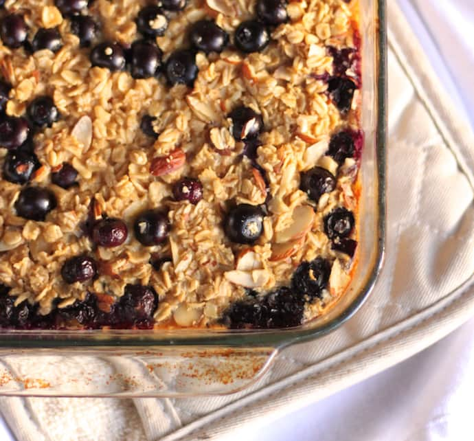 Baked Blueberry Almond Oatmeal