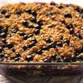 Blueberry Almond Oatmeal Bake