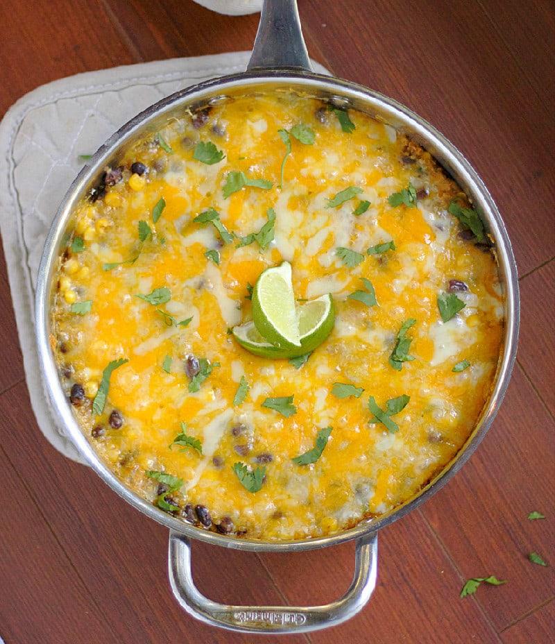 Quinoa Enchilada From Above
