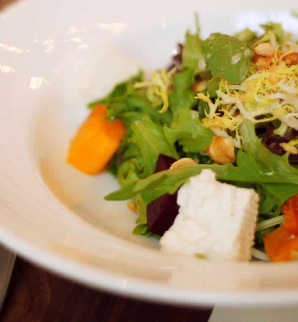 Salad Course at Élevé