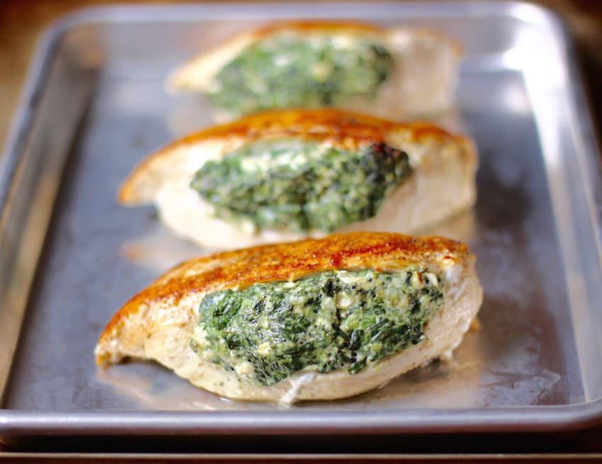 Spinach Stuffed Chicken Breasts | Stuffed Chicken Breast Recipes Round-up