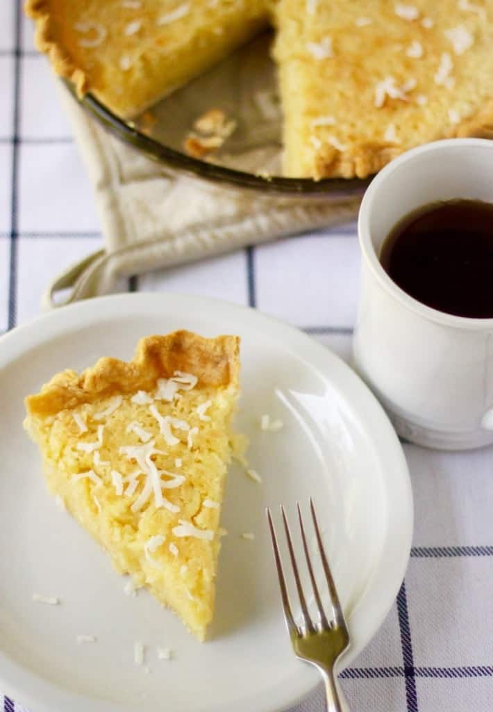 Coconut Buttermilk Pie Slice