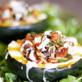 Sausage and Rice Stuffed Acorn Squash