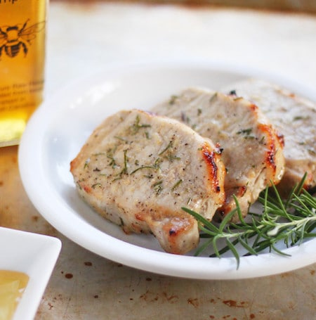 Broiled Pork Chops with Rosemary and Honey