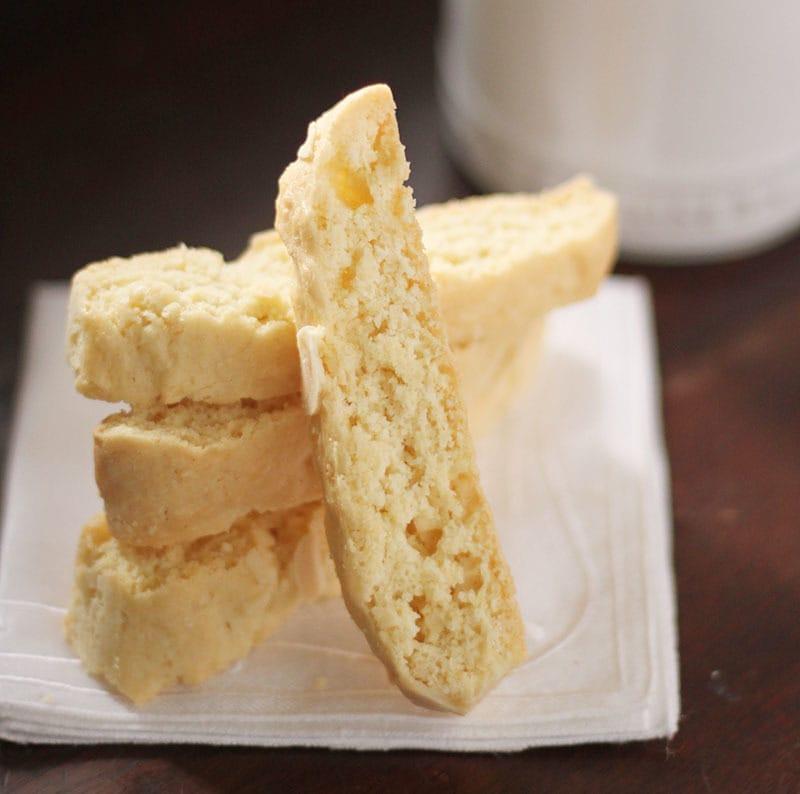 Stack of Almond Biscotti