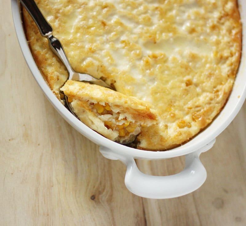 Corn Pudding, Spoon