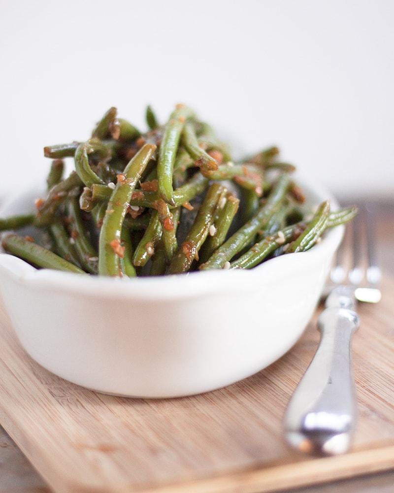 Copycat PF Chang's Garlic Ginger Green Beans Recipe