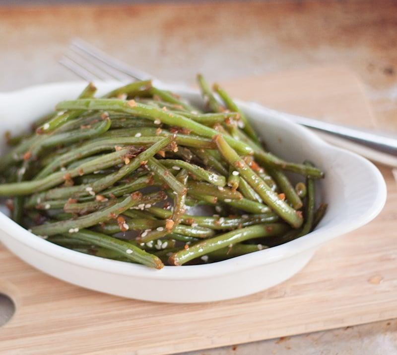 Copycat PF Chang's Garlic Ginger Green Beans