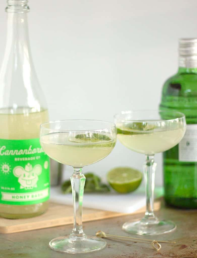 The world's EASIEST craft cocktail: only TWO ingredients are all that stands between you and a perfect Basil Gimlet recipe.