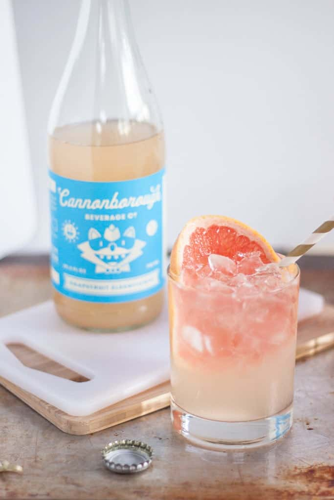 Grapefruit Elderflower Cocktail with Cannonborough Beverage Co soda