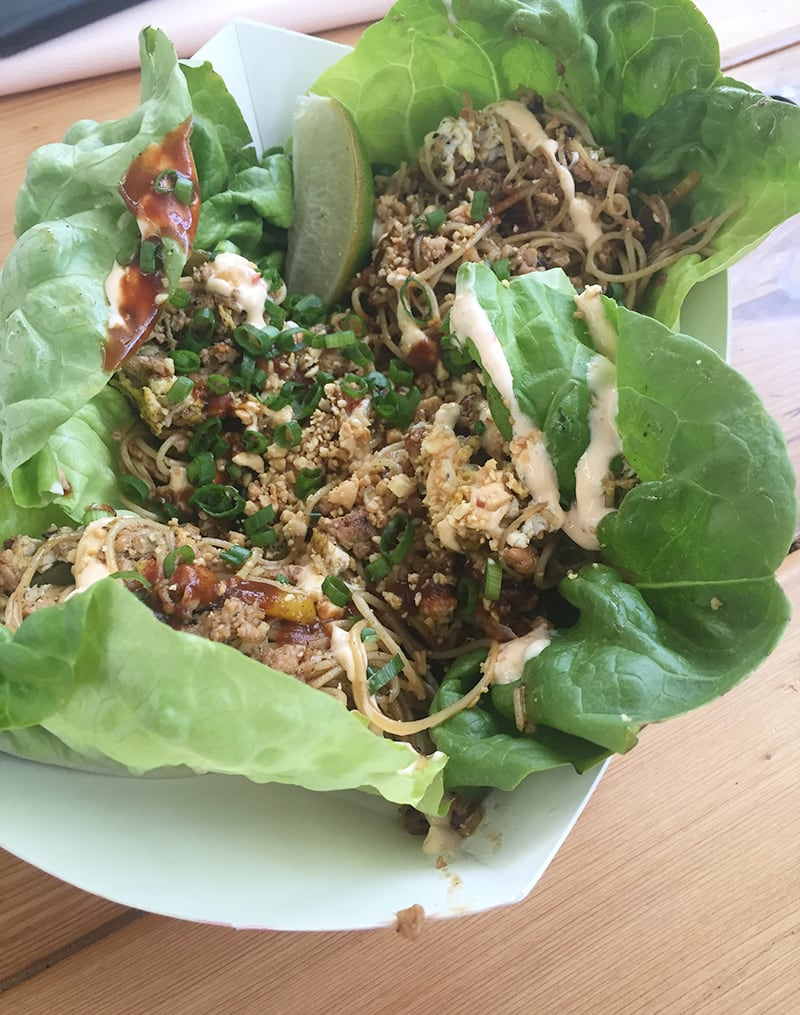 Dashi Pork Lettuce Wraps