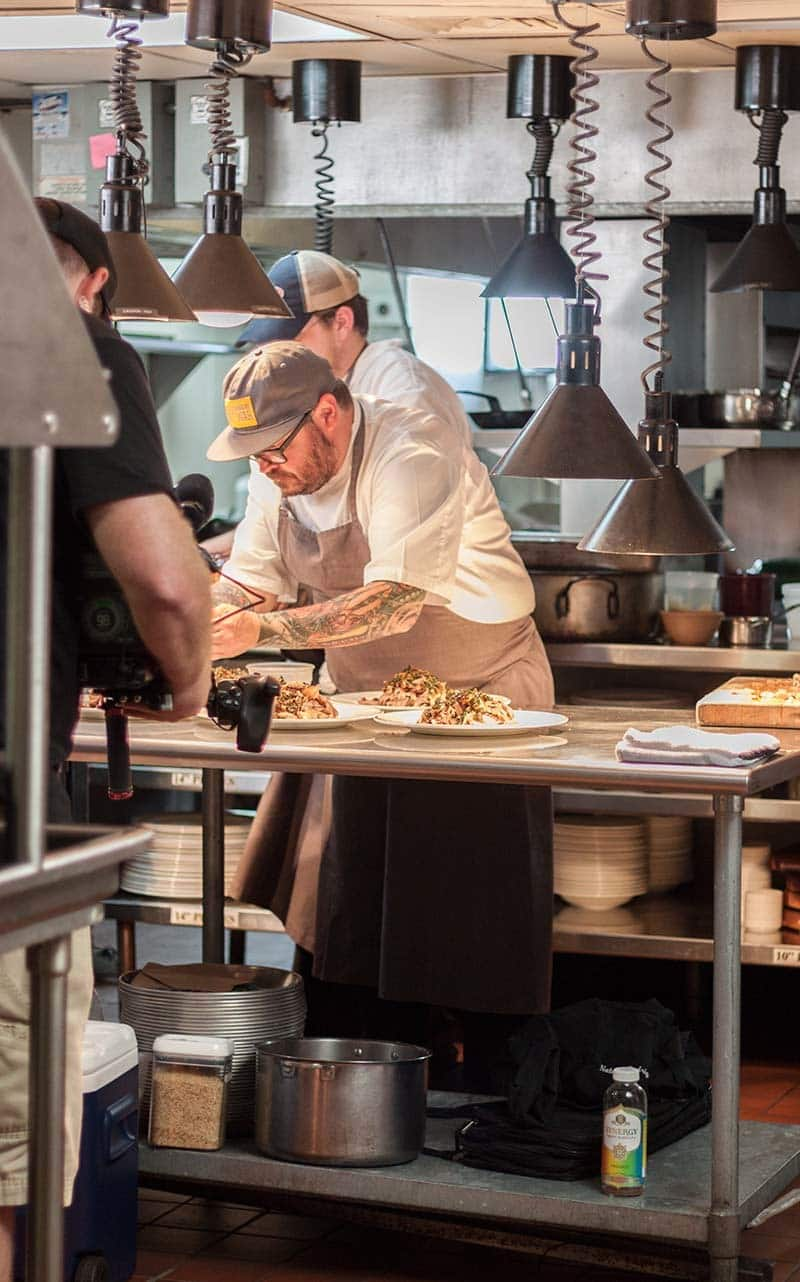 Sean Brock in McCready's Kitchen for Moveable Feast