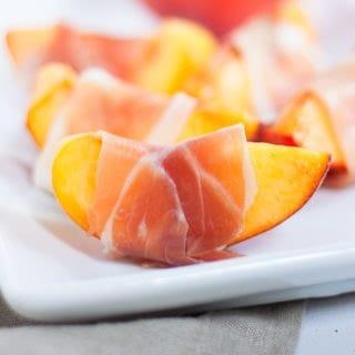 Prosciutto Wrapped Peaches