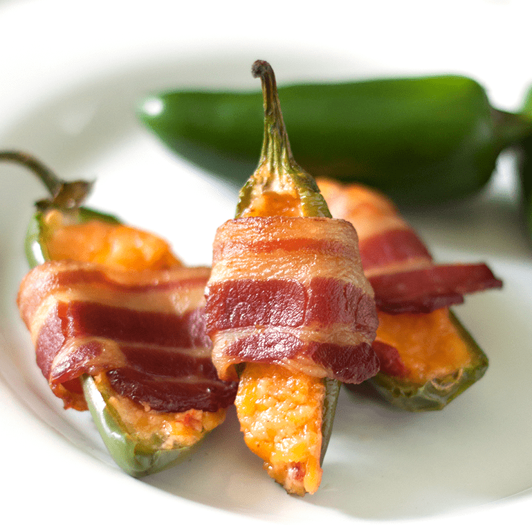 Bacon Wrapped Pimento Cheese Jalapenos