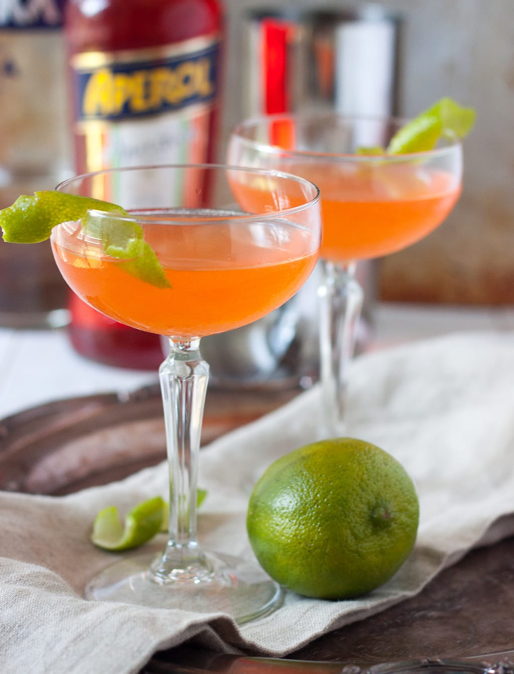 Aperol Cosmopolitan Cocktail