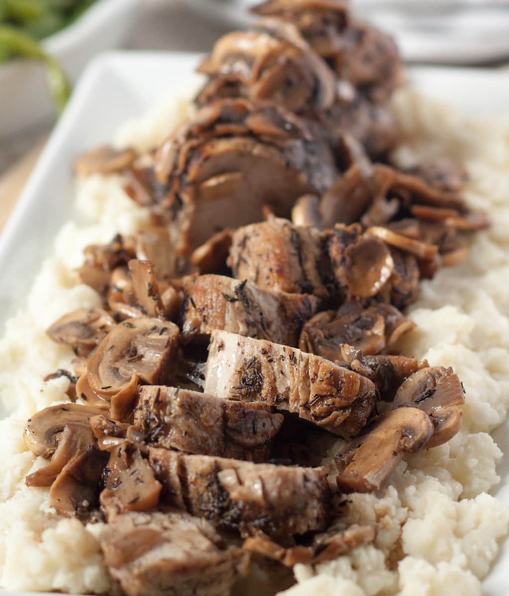 Oven Roasted Pork Tenderloin with Mushrooms