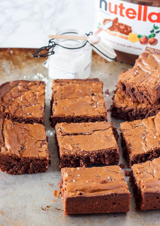 Salted Nutella Brownies