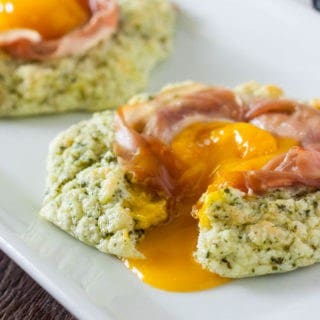 Pesto Prosciutto Cloud Eggs