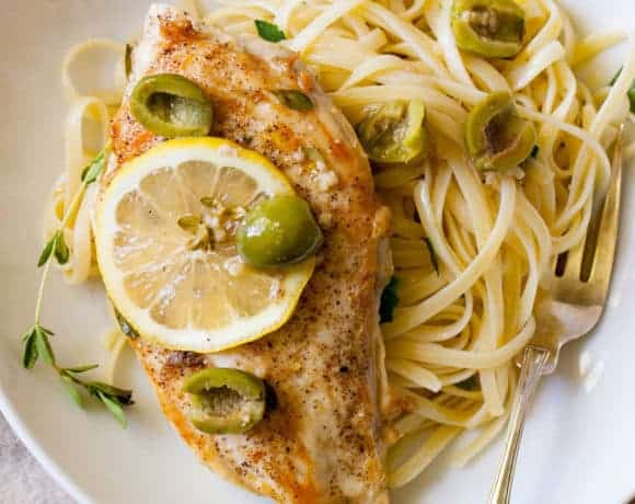 Lemon Olive Chicken Breasts