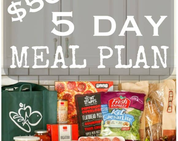 Five Day Meal Plan for Under $50