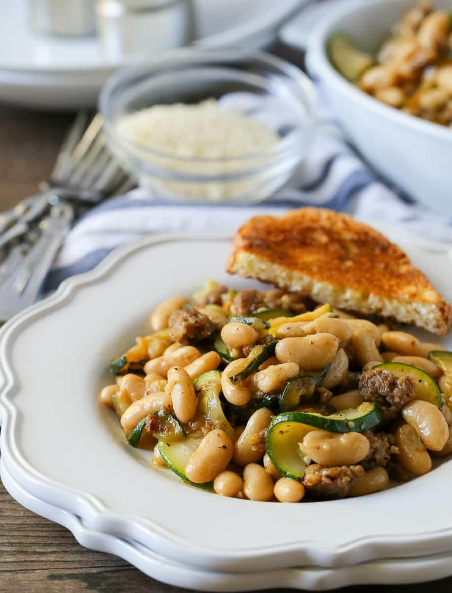Harris Teeter Meal Plan Sausage Zucchini White Beans