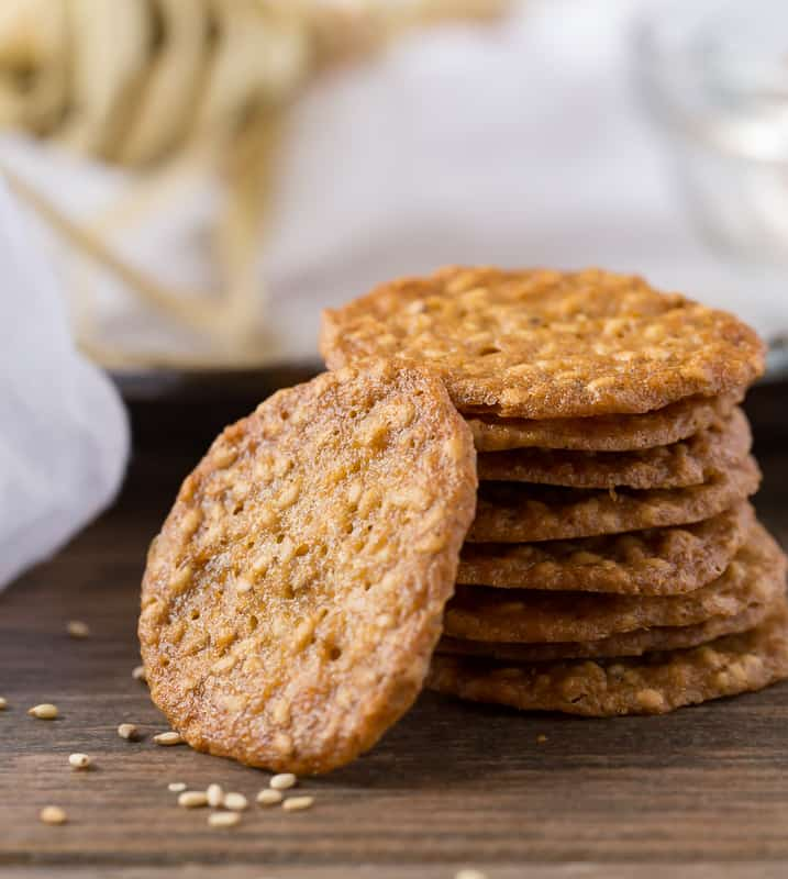 benne wafers with scattered benne seeds