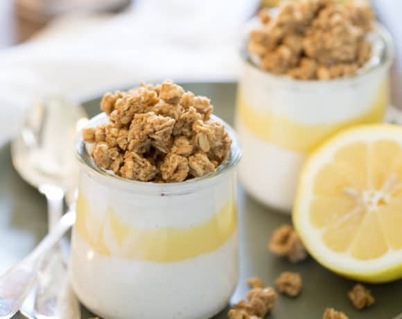 granola parfait with leftover lemon curd