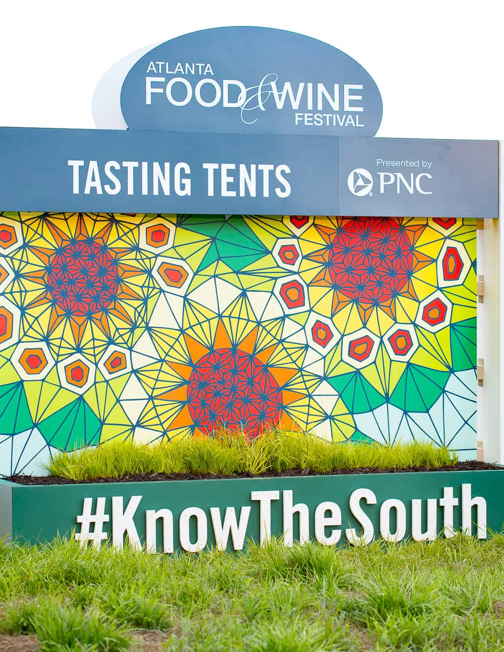 Atlanta Food and Wine Festival Tasting Tents Welcome Sign