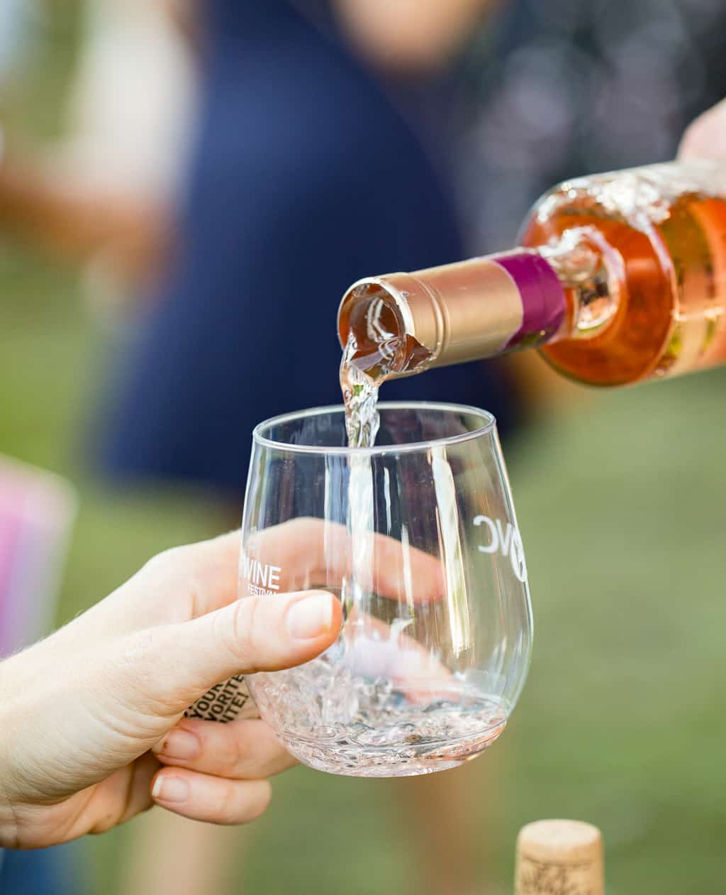 Glass of Rose at Atlanta Food and Wine Festival