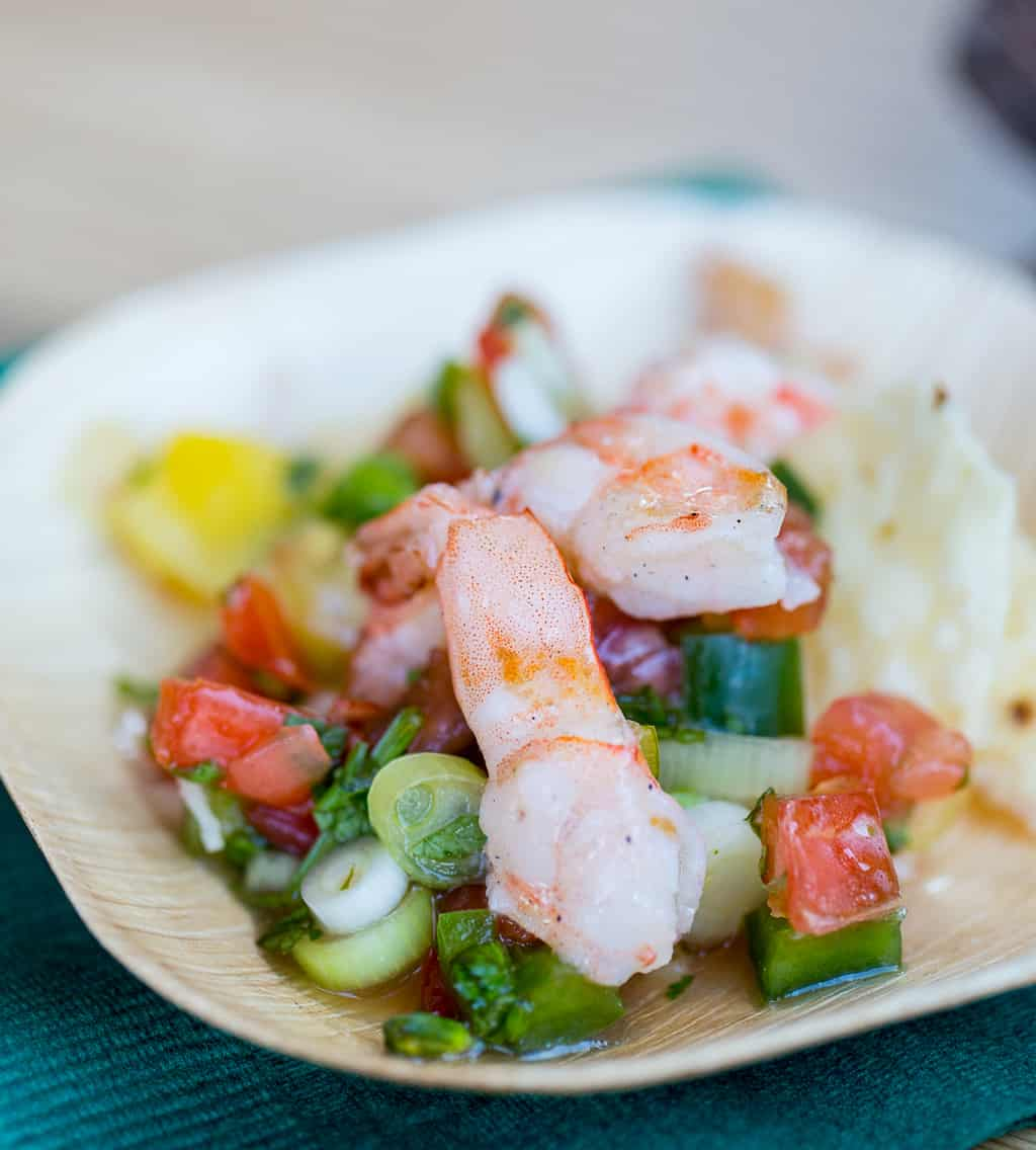 Big Green Egg Knob Creek Grilled Shrimp at Atlanta Food and Wine