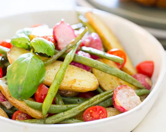 Healthy Potato Salad (Fingerling Potato Salad with Green Beans)