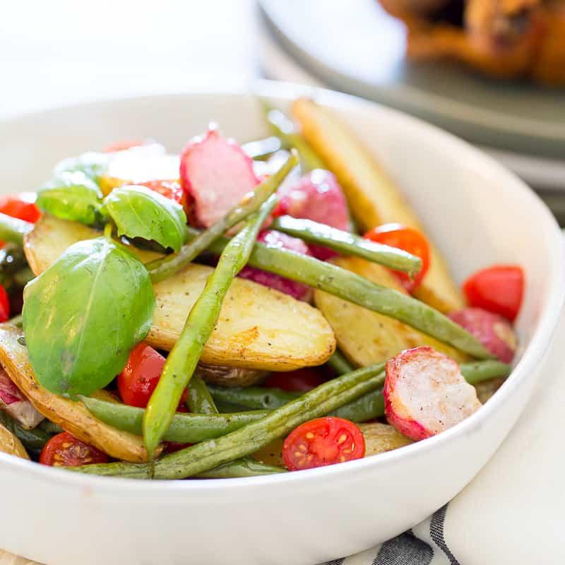 Healthy Potato Salad (Fingerling Potato Salad with Green Beans)