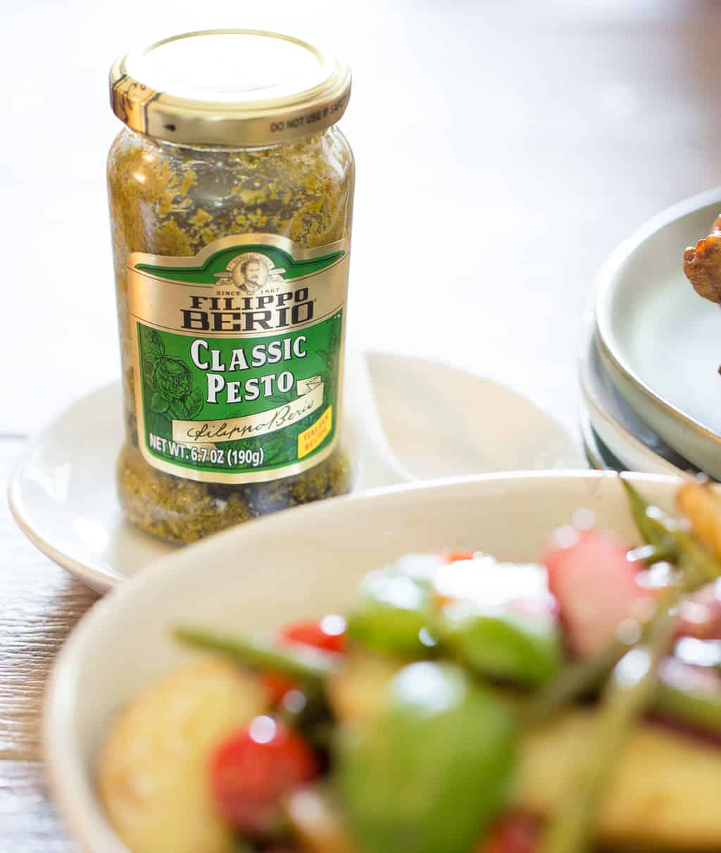 Healthy Potato Salad with Filippo Berio Basil Pesto