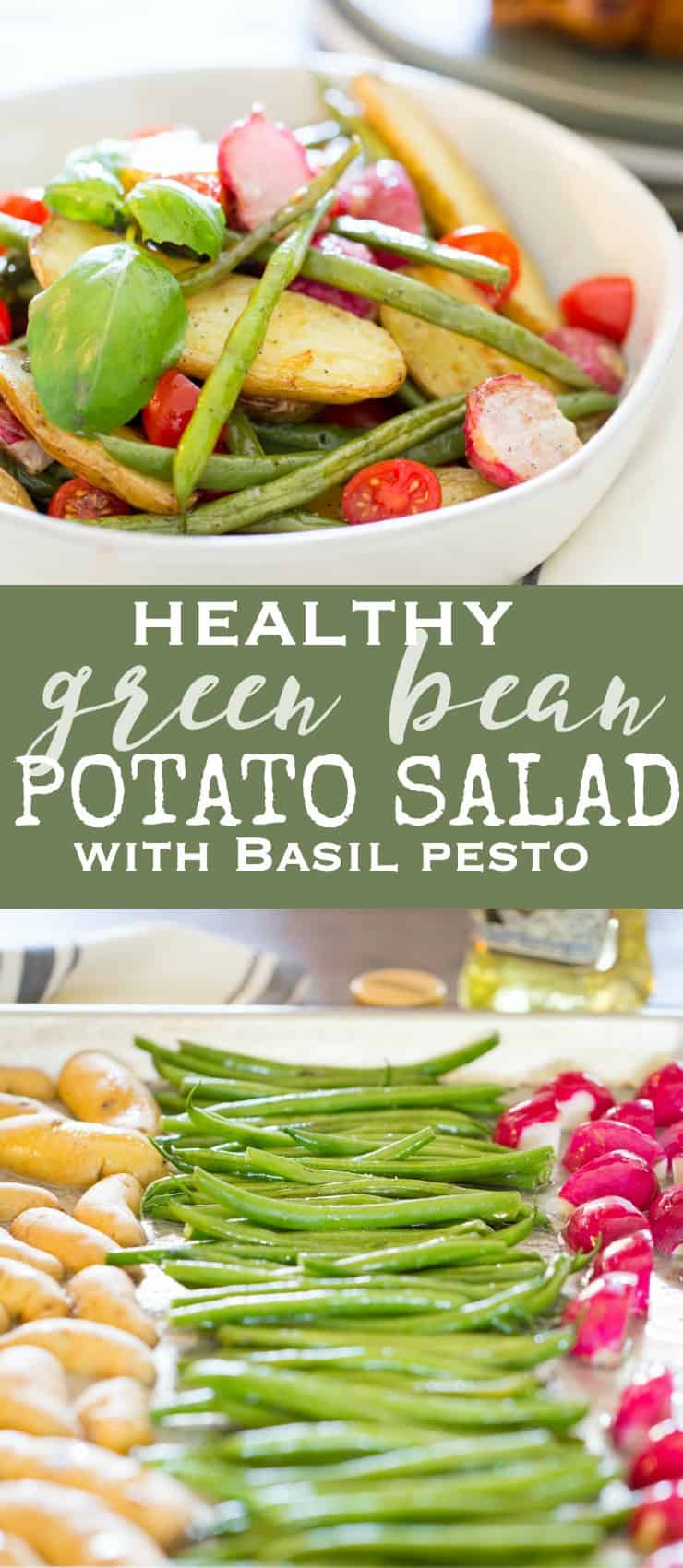 healthy potato salad recipe with green beans and basil pesto