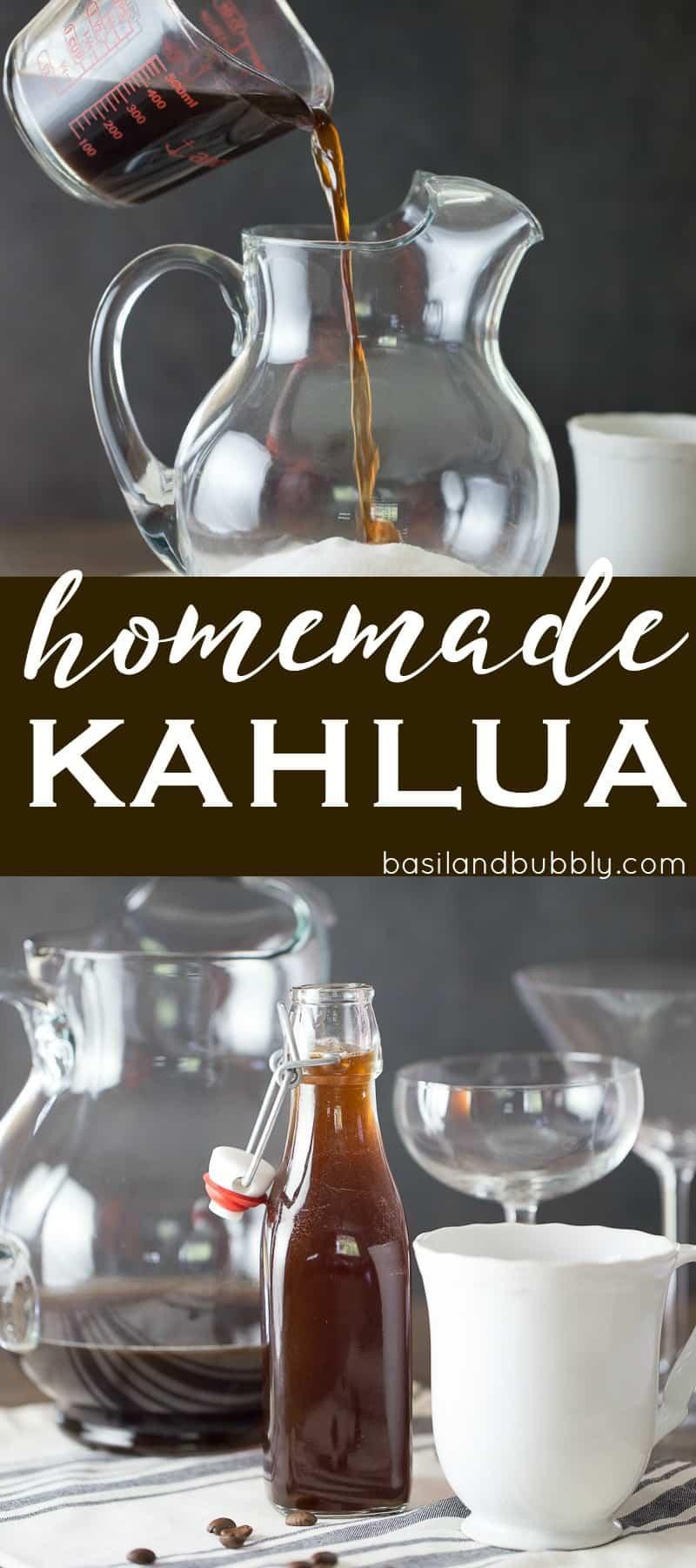 Quick Homemade Kahlua Recipe with Rum