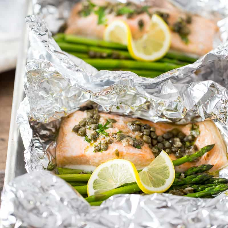 Baked Salmon in Foil (Salmon in Foil Packets)